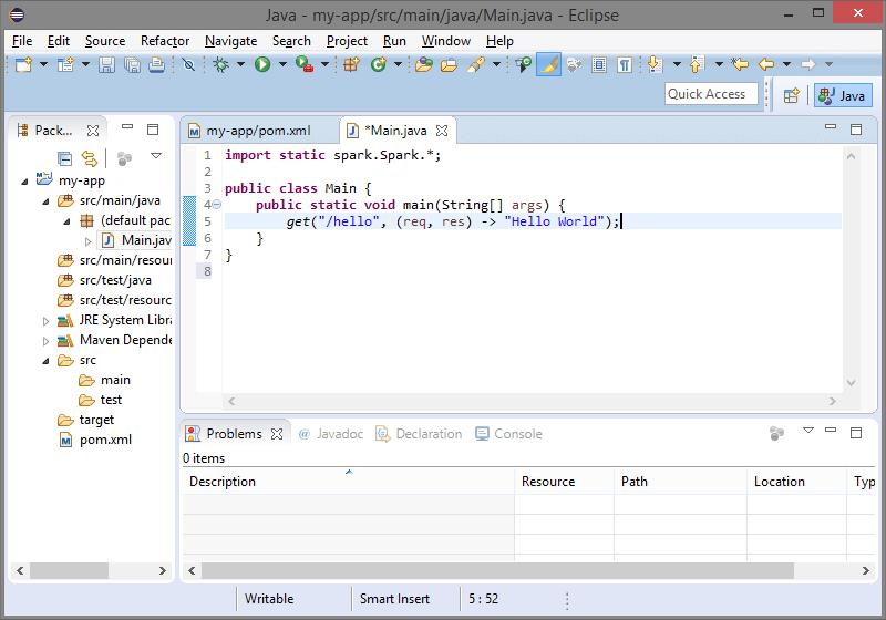 Setting up Spark with Maven - Spark Framework Tutorials
